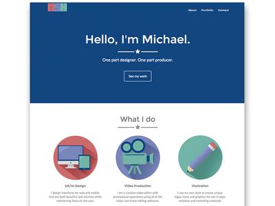 Flat Design Portfolio Site
