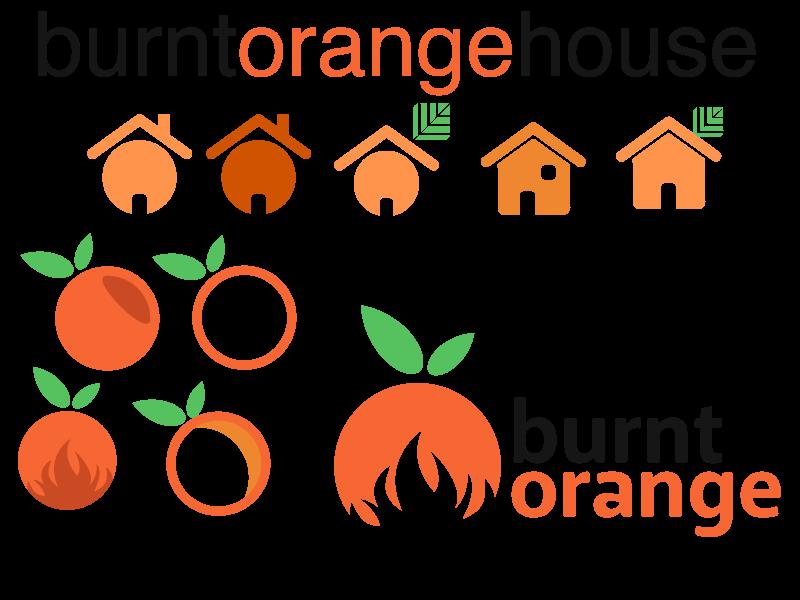 Search for a logo burt orange house