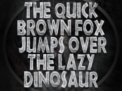 """New """"Jurassic World"""" inspired OpenType-SVG .OTF Color Font"""