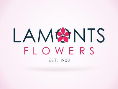Lamonts Flowers logo floweriest pink modern clean brand