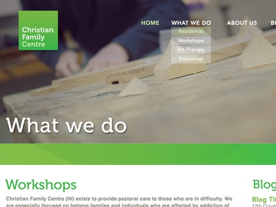 Christian Family Centre - Web Design web design greeen photography dof green museo