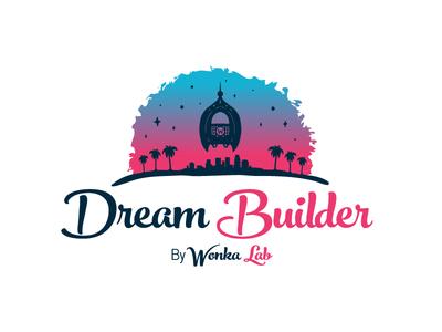 Dream Builder Logo For Dribbble dream builder dream builder california palm trees logo wearedhd brand identity graphic design