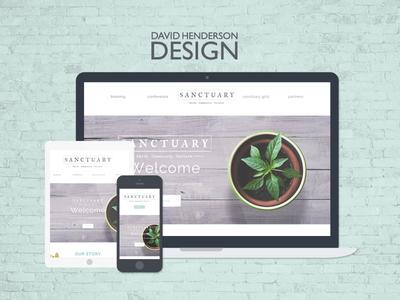 Sanctuary Website Design  wearedhd webdevelopment graphicdesign webdesign