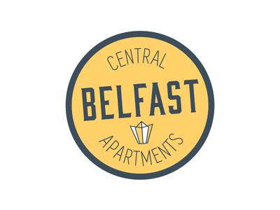 Central Belfast Apartments illustration icon sticker branding typography logodesign graphicdesign logo