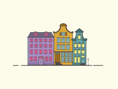 Dutch Houses illustration architecture dutch houses