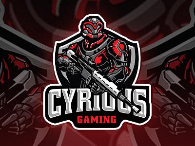 Cyrious Gaming Logo character mascot illustration esportlogo gun sniper gundam mecha robot twice esport sport logo