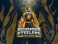 Richmond Steelers Football Logo