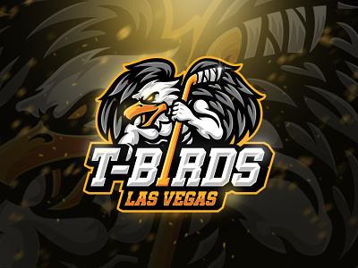 T-Birds Hockey Team mascot character hawk team esport sport logo birds eagle tournament logo sport hockey