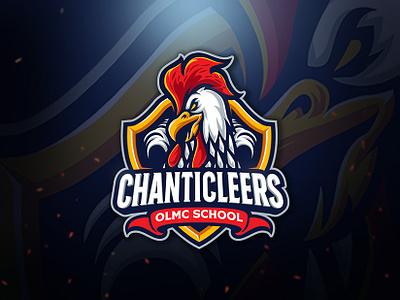 Chanticleers Logo Team animal footbal baseball team branding angry cartoon mascot character esports sport logo rooster