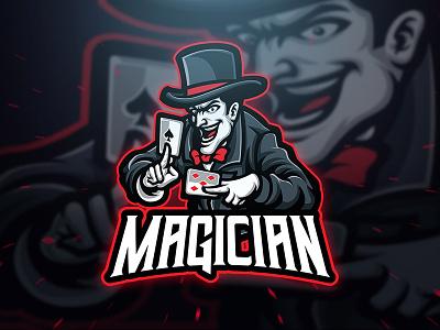 Magician blankids sport branding cartoon character esport sport logo logo template gamer gaming game