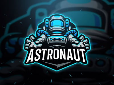 Astronaut Logo Template game gamers gamer gaming galaxy blue costume planet space astronaut illustration character sport esport logo