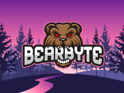 Bearbyte Logo project commission mascot vector design gamer faming game angry head character bear