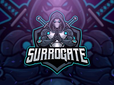 Surorogate Esport Logo culture japan ninja stremer branding logo mascot character twitch gamer game gaming esport