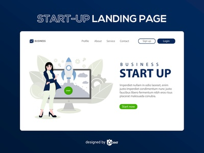 Start-up Landing Page website vector illustration vector ui design landing page illustration landing page design landing page illustration graphic design startup
