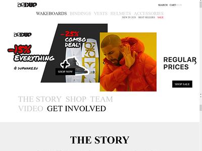 Dupwake graphic design animation website web ui ux branding logo design