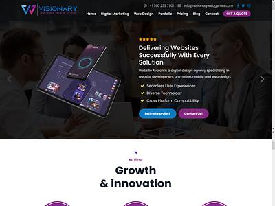 Visionary Web Genies - Digital Agency wordpress development wordpress design wordpress ozariya logo website web ux ui graphic design design