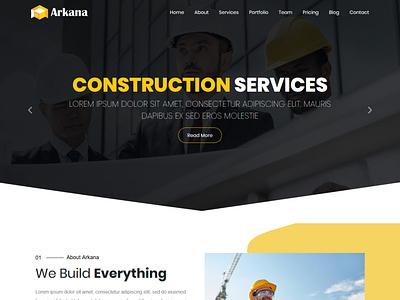 Arkana - One Page Real Estate WordPress Theme ui ux web logo ozariya wordpress development wordpress design wordpress website graphic design design