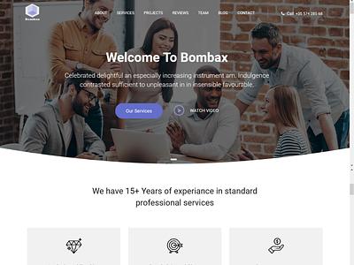 Bombax - Business WordPress Theme theme design wordpress development wordpress design wordpress ozariya website web ux ui graphic design design