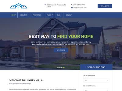 Luxuryvilla - Real Estate HTML Template theme design themeforest logo wordpress development wordpress design wordpress ozariya website ux ui graphic design design