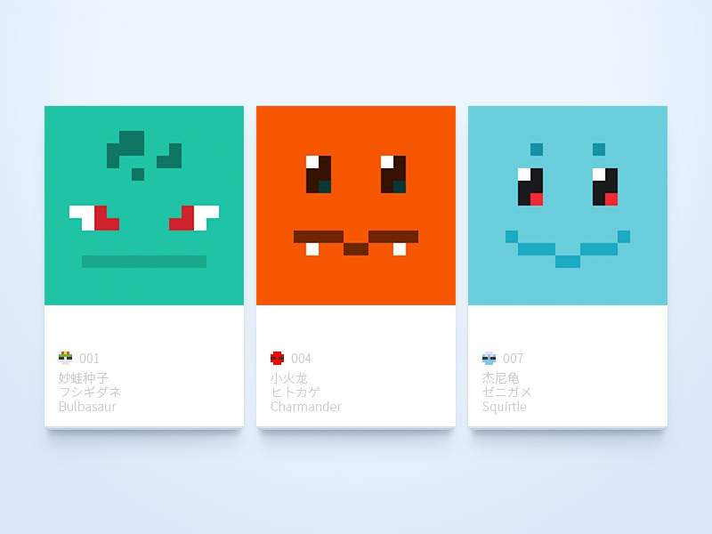 Pixel Pokemon Gen 1 By Yink On Dribbble