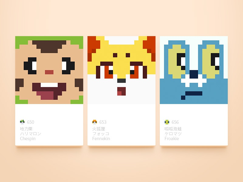 Pixel Pokemon Gen 6 By Yink On Dribbble