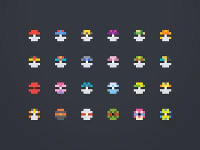 Pixel Pokemon Balls
