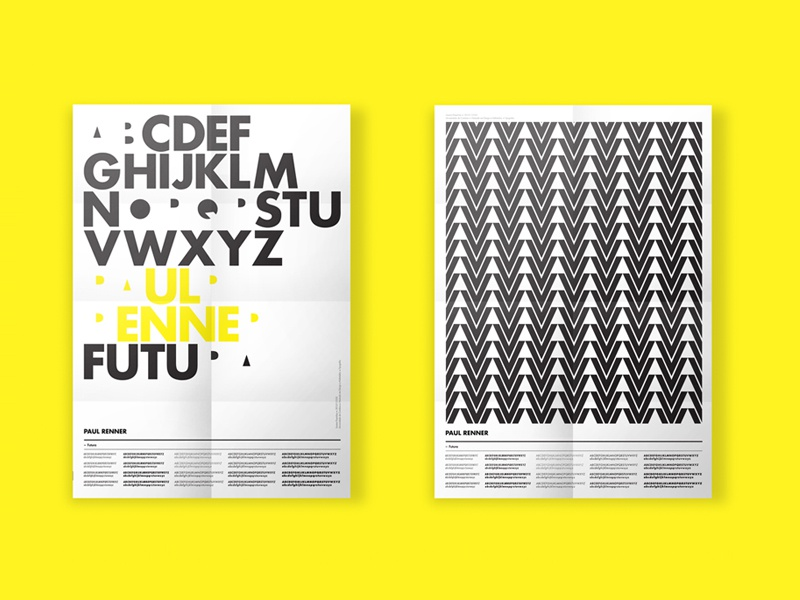 Old work ... New presentation futura paulrenner poster typography