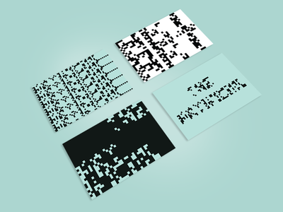 The Artificial Personal Business Cards theartificial businesscards graphic processing identity brand generative