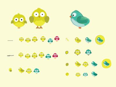 Baby Bird baby bird illustration cuteness cute theartificial