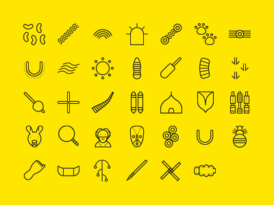 Aboriginal for To Icon graphicdesign theartificial toicon tribe australian tribal icons