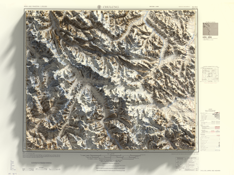 3D top view render - Jammu and Kashmir top view render kashmir jammu heightmap panel generator map 3d plugin photoshop
