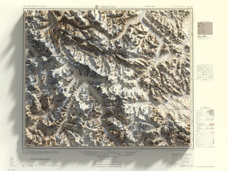 3D top view render - Jammu and Kashmir top view render kashmir jammu heightmap panel generator map 3d plugin photoshop