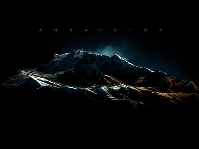 Annapurna - Nepal - 3D map Render 3d map generator map 3d generator plugin mountains nepal photoshop