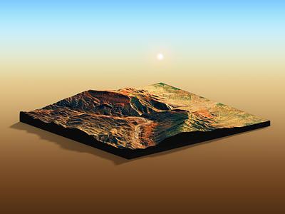 Himalayas I - Photoshop Render nepal extension heightmap 3d map generator map 3d generator plugin