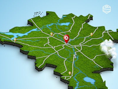 3D Map Generator 2 Google Map by Michael Tzscheppan Dribbble