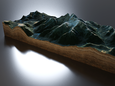 3D Map Render - glTF cycles blender maptiler map 3d babylonjs gltf