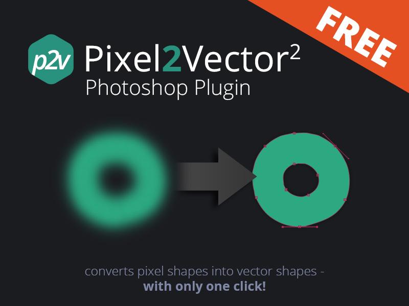 Free Pixel To Vector Converter - 2 action goody freebie free photoshop extension plugin pixel converter vector panel