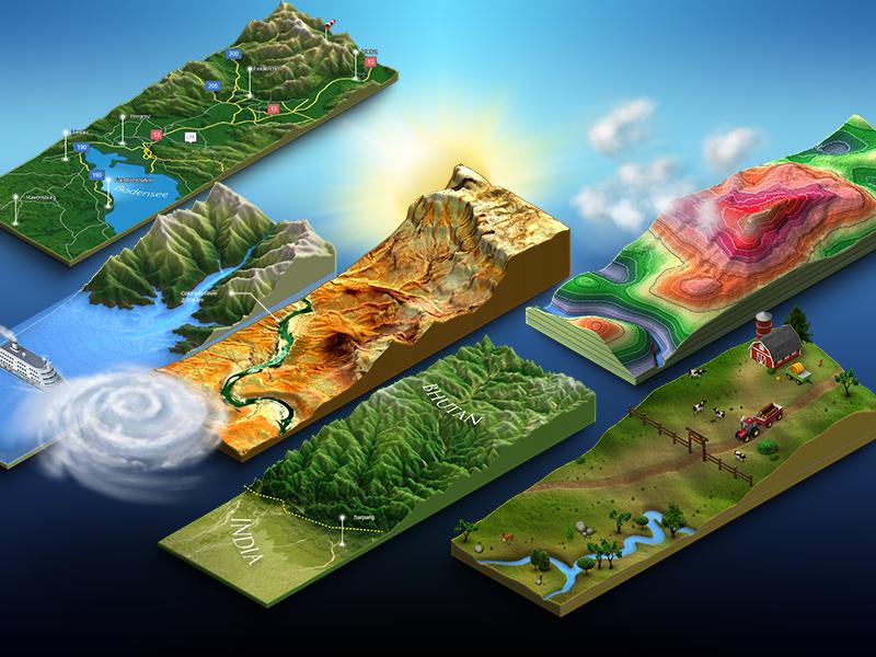 3d Map Generator - Terrain - Keyvisual by Michael Tzscheppan