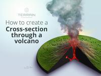 Tutorial - Cross-section through a volcano