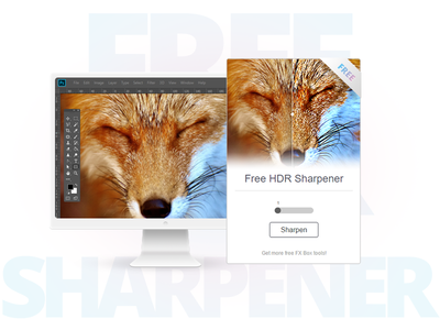 Free HDR Sharpener - Photoshop Plugin effect filter extension freebie add on photoshop fx tool