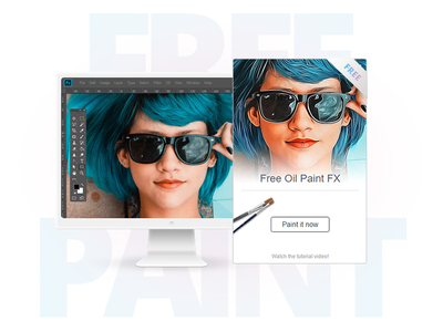 Free Oil Paint - Photoshop Plugin effect filter extension freebie add on photoshop fx tool