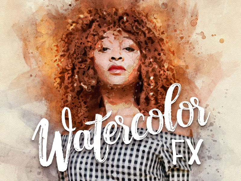 Watercolor fx   photo effect for photoshop 01