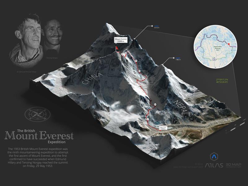 Mount everest 3d map generator atlas