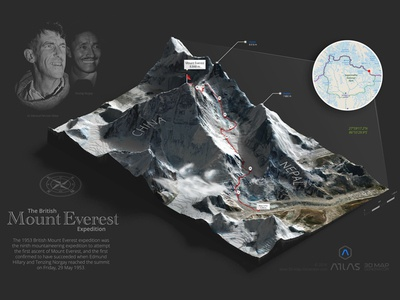 Mount Everest - 3D Map Generator Atlas britain infographic everest mt heightmap generator map plugin photoshop 3d