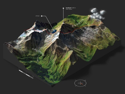 Goldberggruppe - 3D Map Generator Atlas infographic austria heightmap generator map plugin photoshop 3d