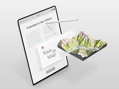 Embed Custom 3d Map Into Your Website 3d interactive map wordpress map openstreetmap heightmap service online