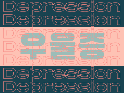 Depression graphic design minimal art flat typography type design