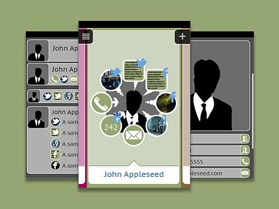 Social Network Concept app ux design