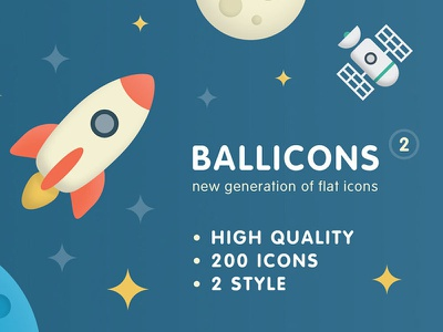 Ballicons 2 - a new generation of flat icons design flat icons