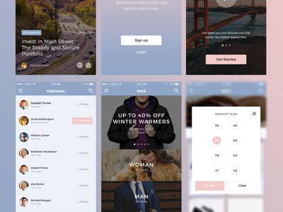 MAX UI Kit Freebie app design ios template psd photoshop free sketch freebie